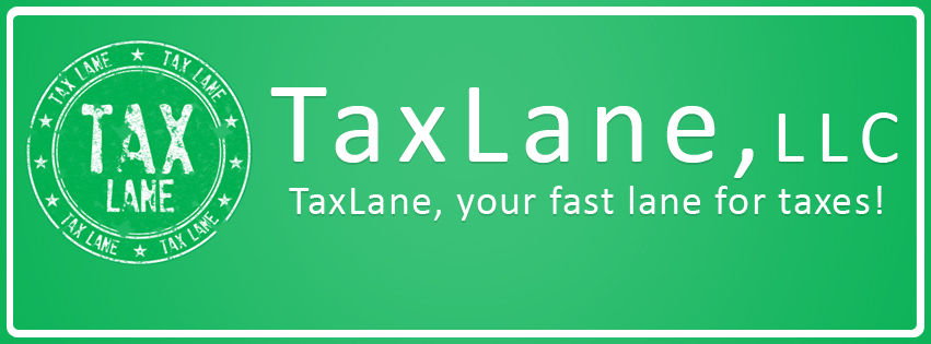 TaxLane - new stamp logo